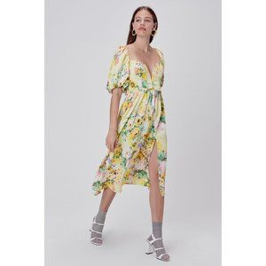 NWT Leigh Floral Midi Dress by For Love & Lemons